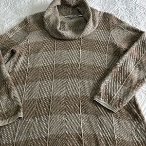 Cowl- neck tunic sweater